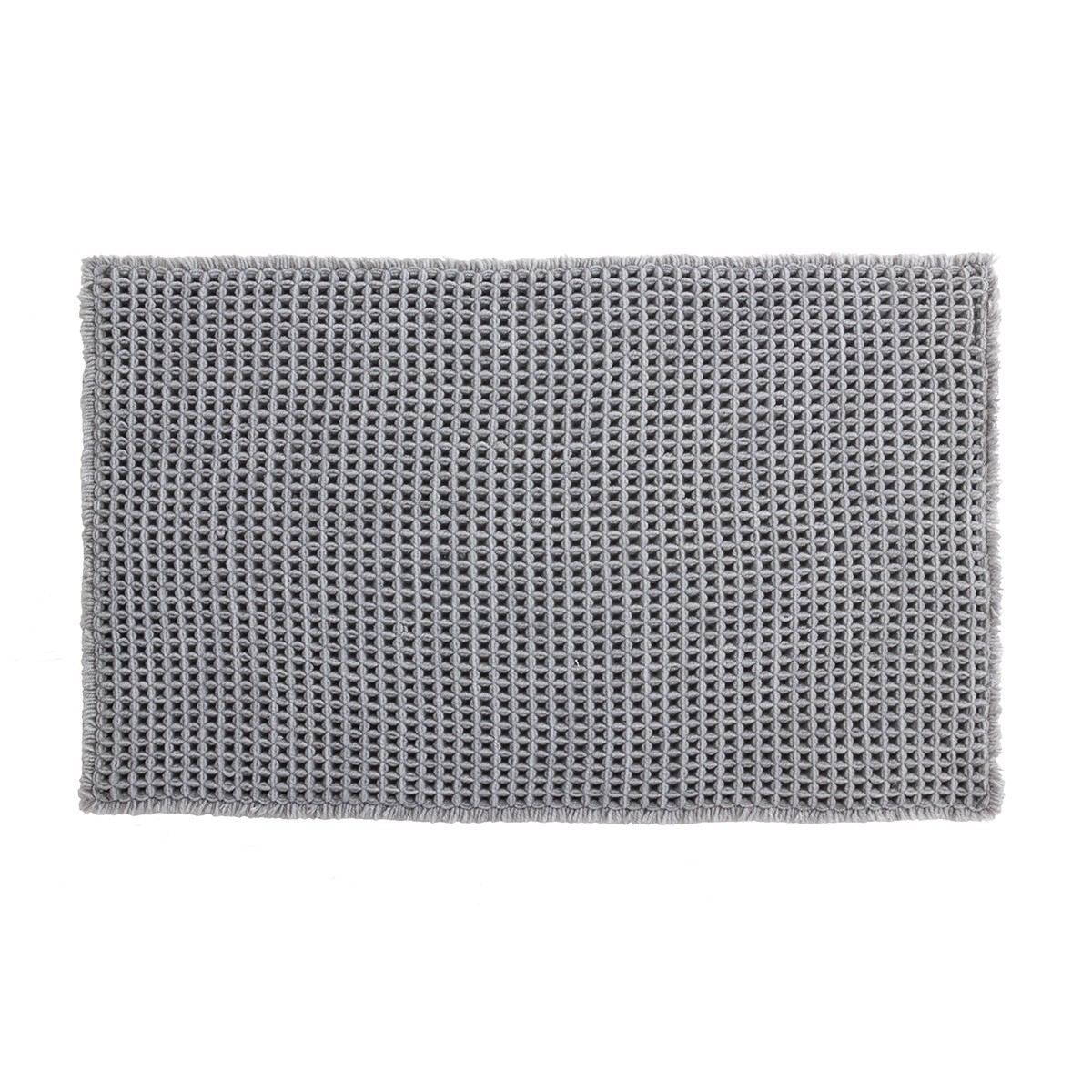 Πατάκι Μπάνιου (50x80) LifeStyle Gauffre Grey/Silver