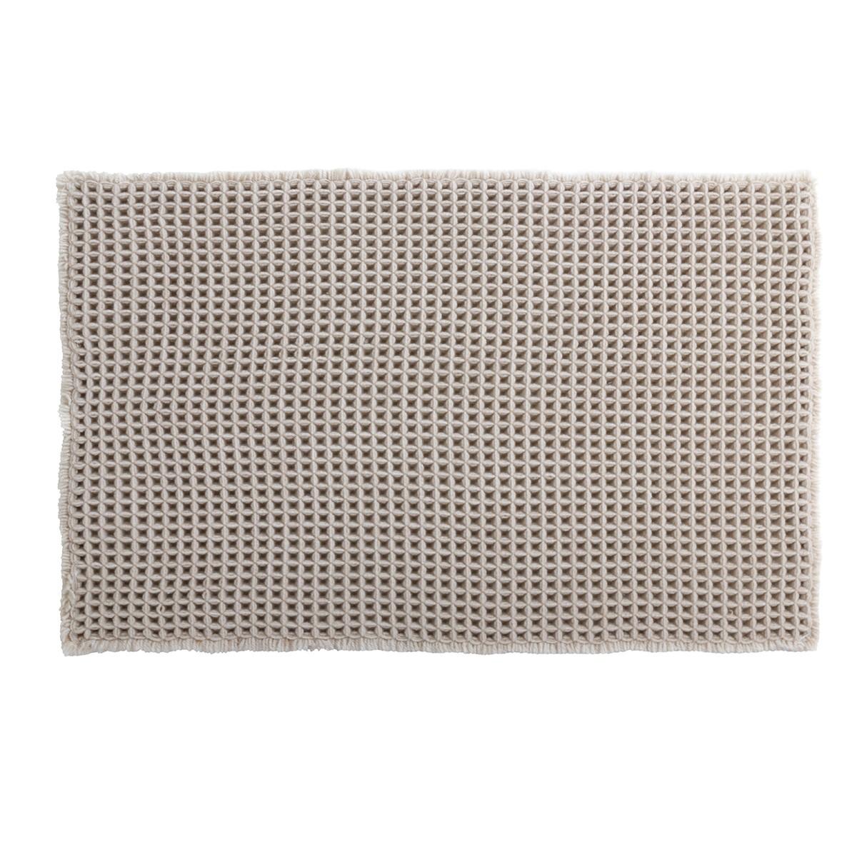 Πατάκι Μπάνιου (50×80) LifeStyle Gauffre 05632.002 Beige