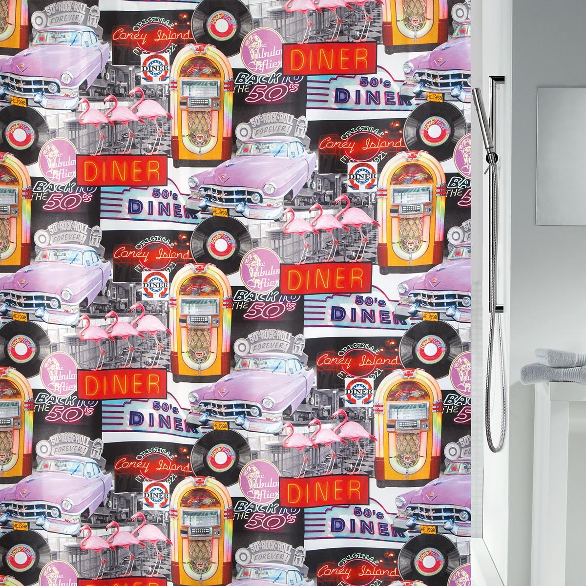 Κουρτίνα Μπάνιου (180×200) LifeStyle Rock 'N' Roll