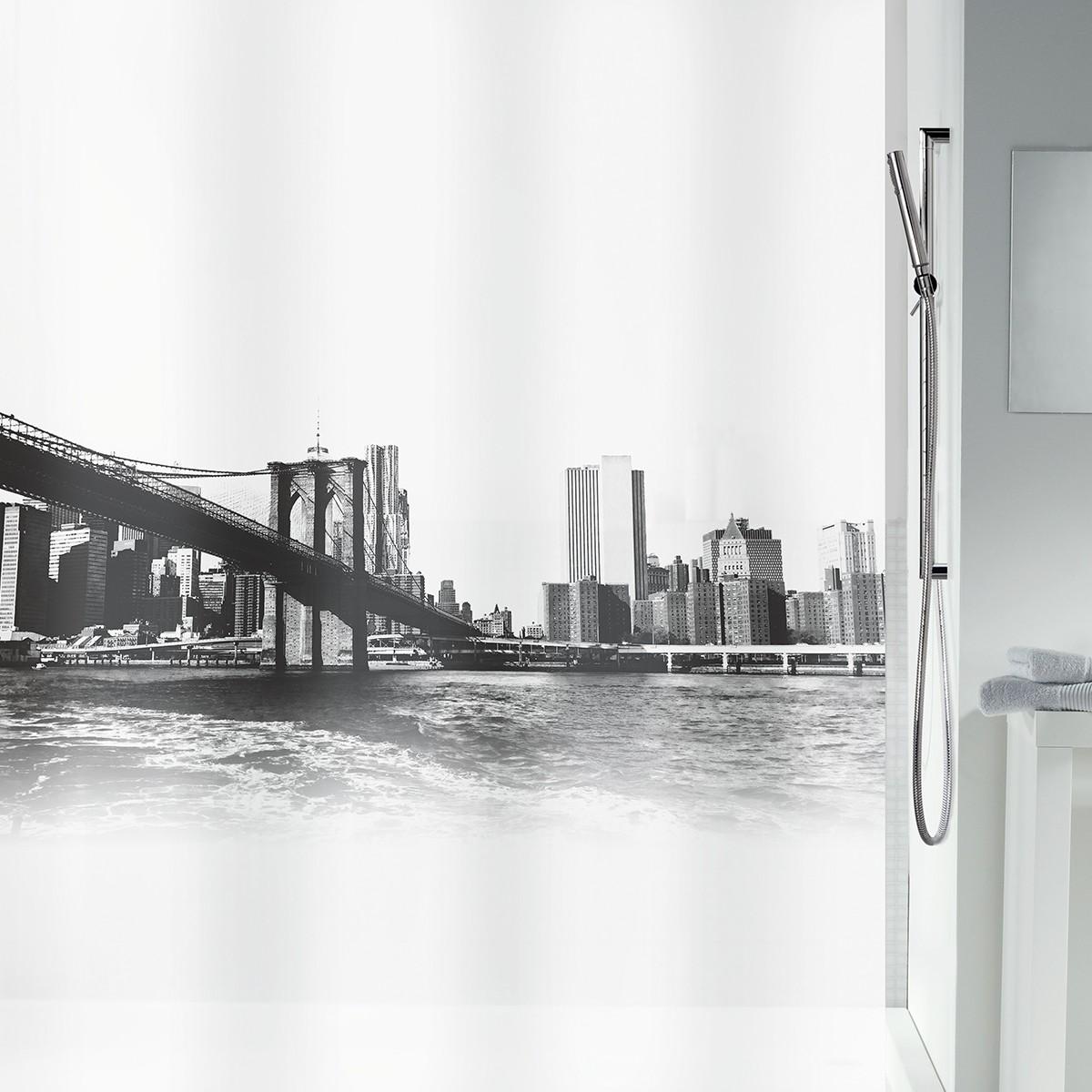 Κουρτίνα Μπάνιου Πλαστική (180x200) LifeStyle New Brook