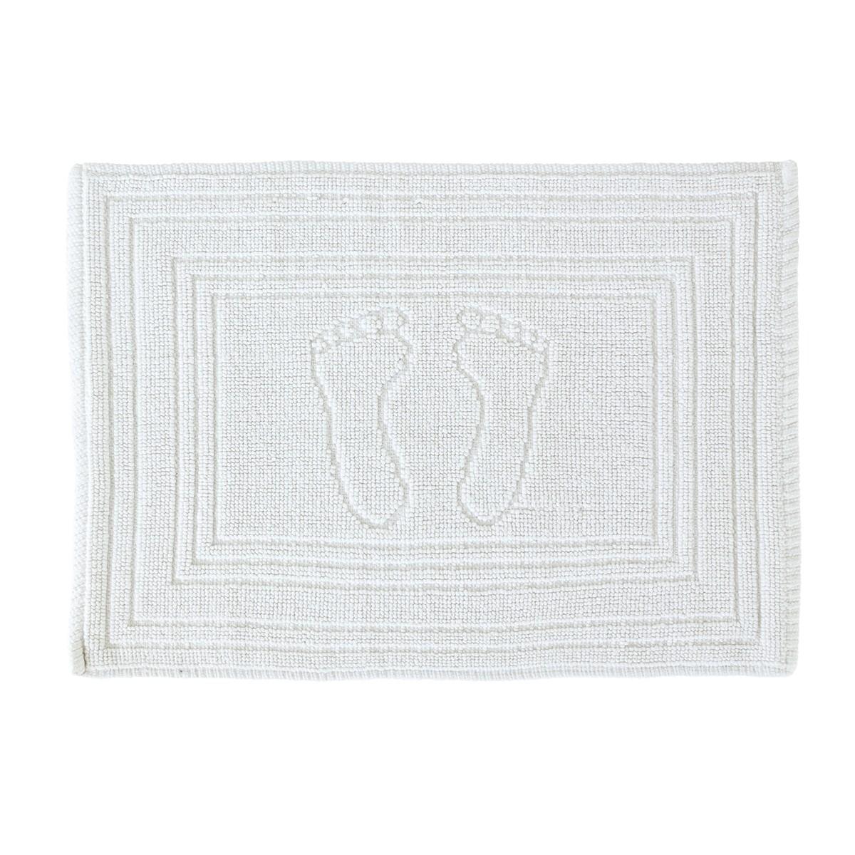 Πετσετέ Πατάκι Μπάνιου (45x65) Rainbow Diros White