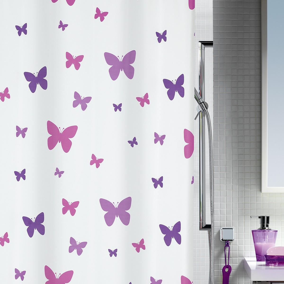 Κουρτίνα Μπάνιου (180x200) Spirella Fly Purple