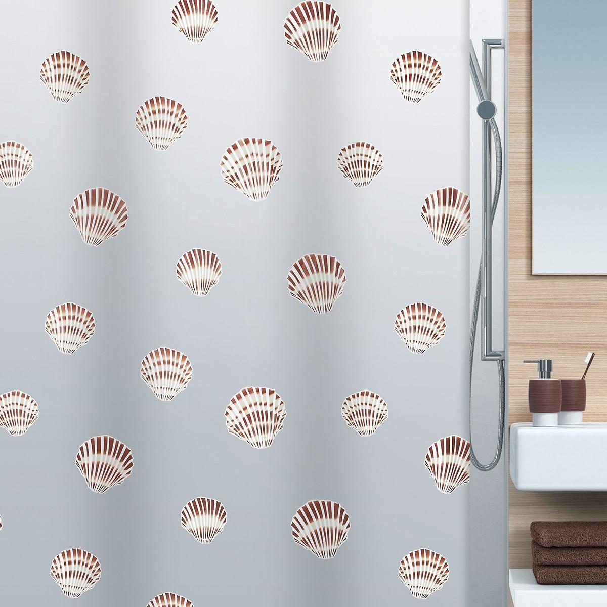 Κουρτίνα Μπάνιου Πλαστική (180x200) Spirella Shell
