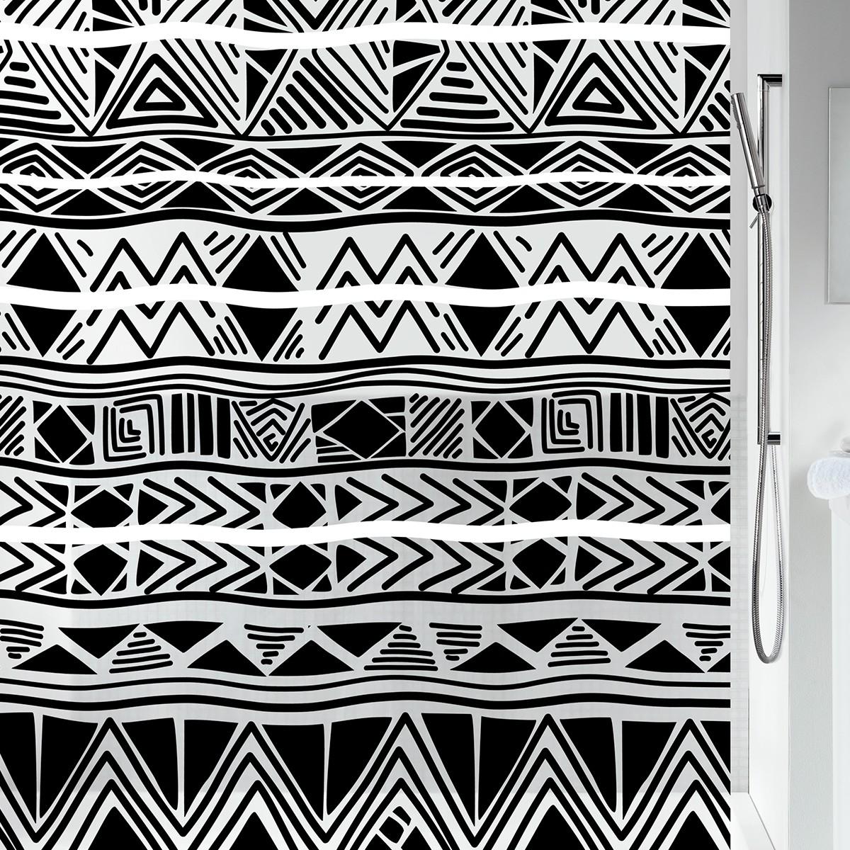 Κουρτίνα Μπάνιου Πλαστική (180x200) Spirella Ikat