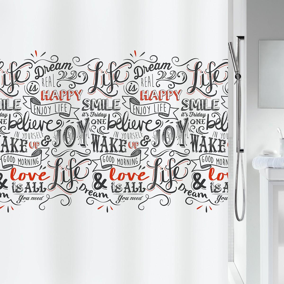 Κουρτίνα Μπάνιου (180x200) Spirella LoveJoy