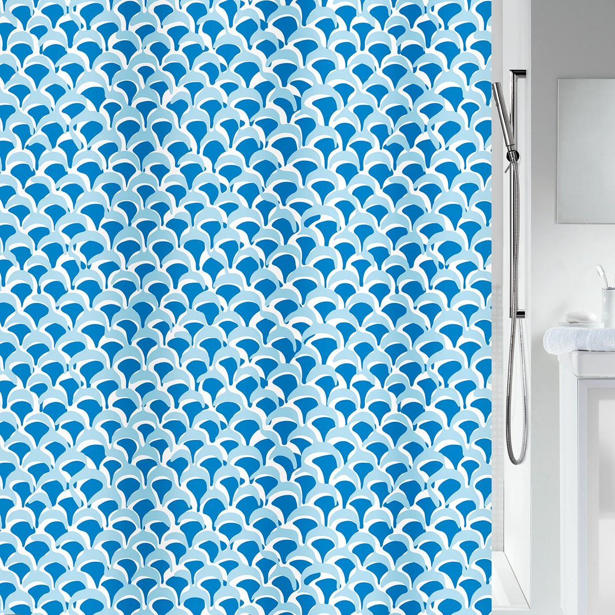 Κουρτίνα Μπάνιου (180×200) Spirella BlueWave