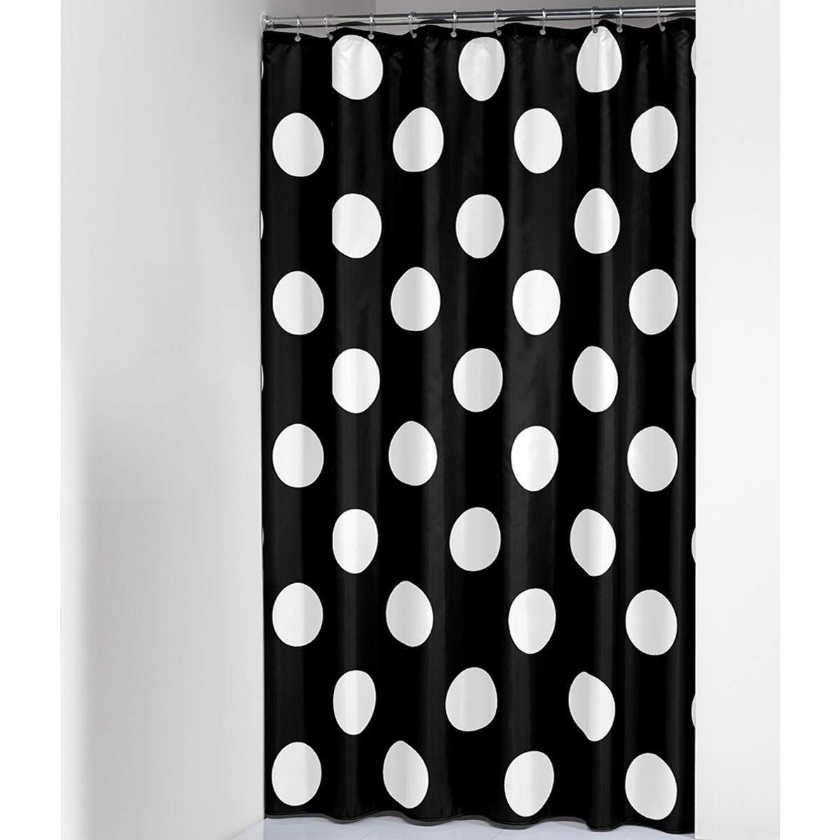 Κουρτίνα Μπάνιου (180×200) SealSkin Polka Black 74337