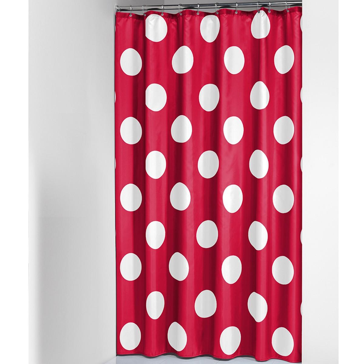 Κουρτίνα Μπάνιου (180×200) SealSkin Polka Red