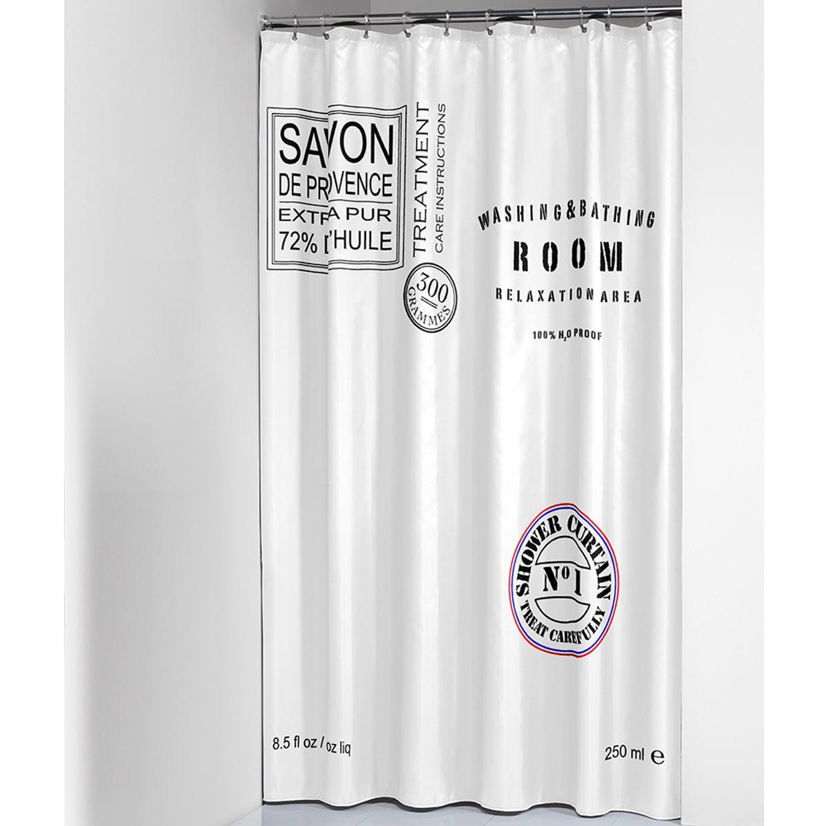 Κουρτίνα Μπάνιου (180×200) SealSkin Savon De Provence White