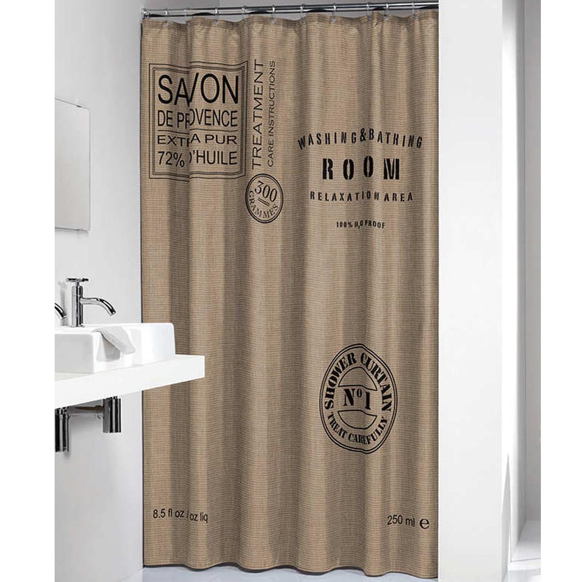 Κουρτίνα Μπάνιου (180×200) SealSkin Savon De Provence Polycotton