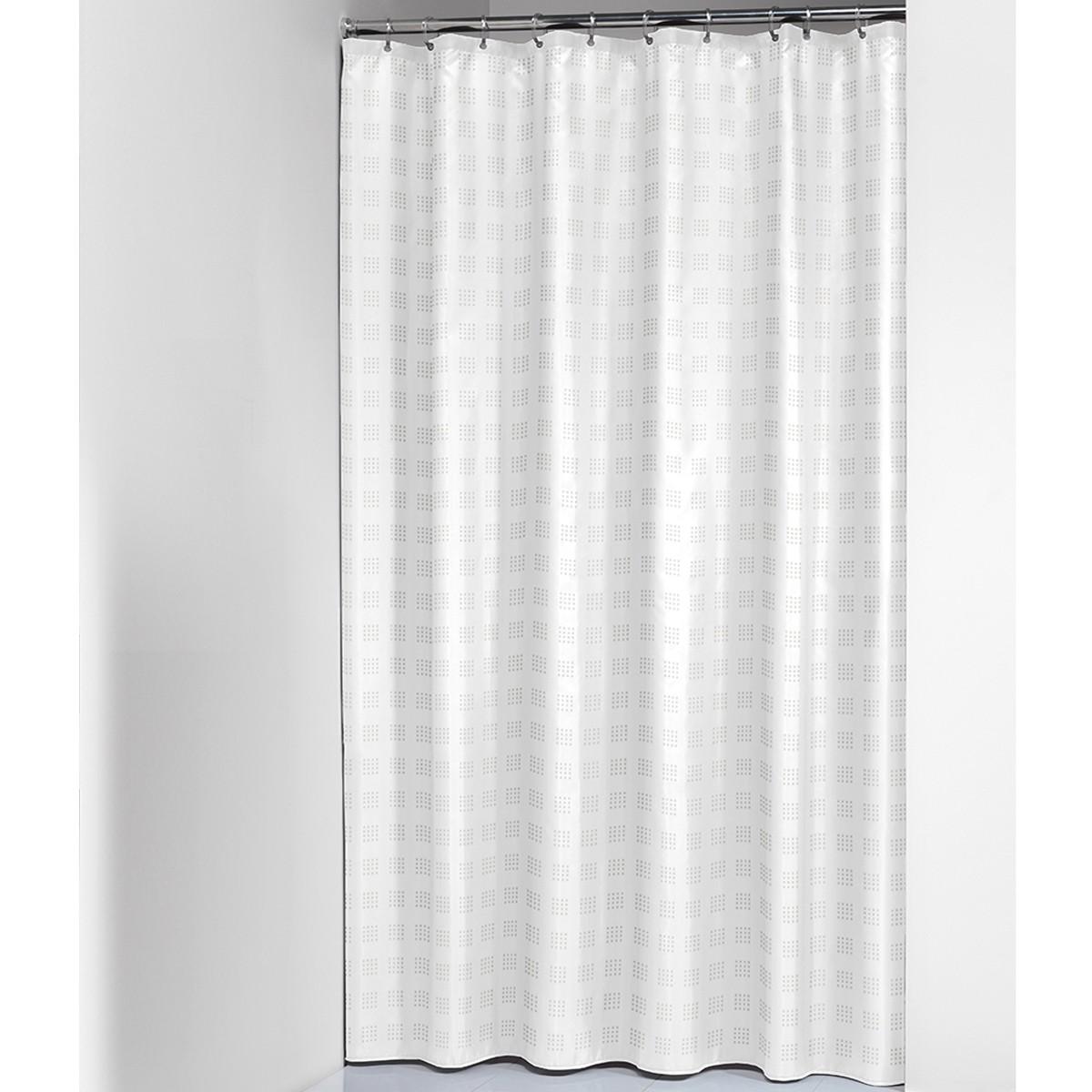 Κουρτίνα Μπάνιου (180×200) SealSkin Quadretta White