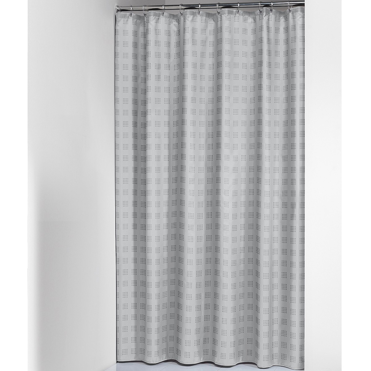 Κουρτίνα Μπάνιου (180×200) SealSkin Quadretta Grey