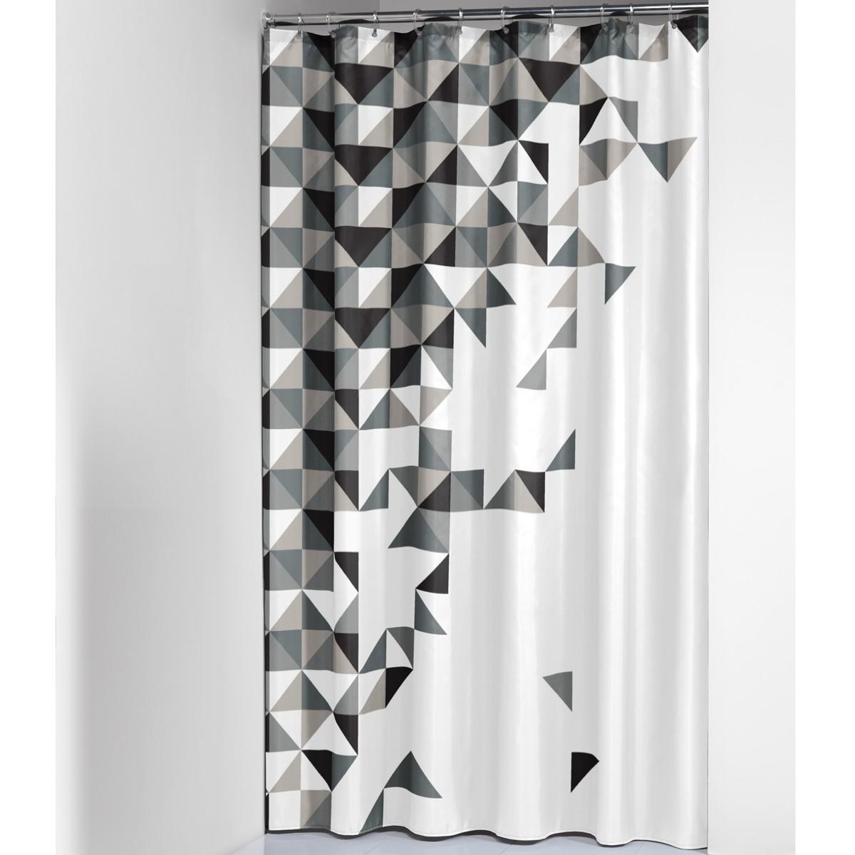 Κουρτίνα Μπάνιου (180×200) SealSkin Tangram Black