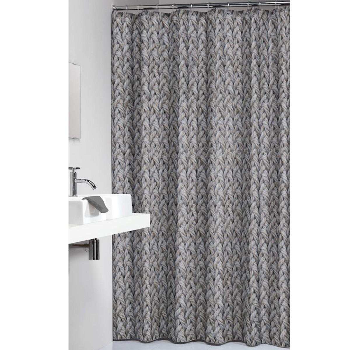 Κουρτίνα Μπάνιου (180x200) SealSkin Knitted