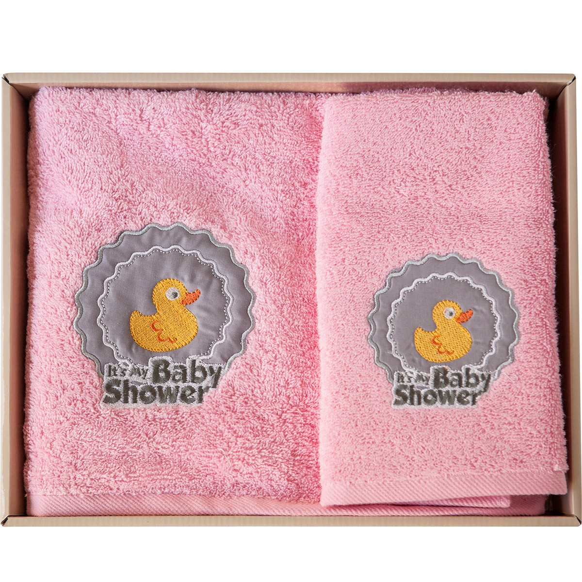 Βρεφικές Πετσέτες (Σετ 2τμχ) Melinen Duck Pink X Grey