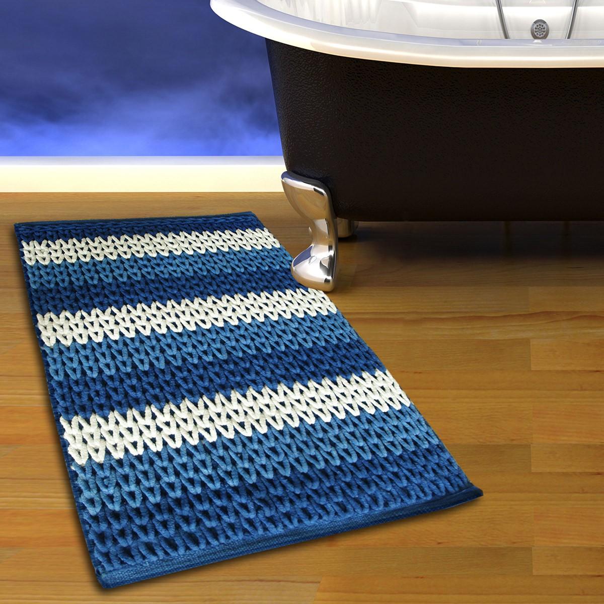 Πατάκι Μπάνιου (50x80) San Lorentzo 2335 Blue/White
