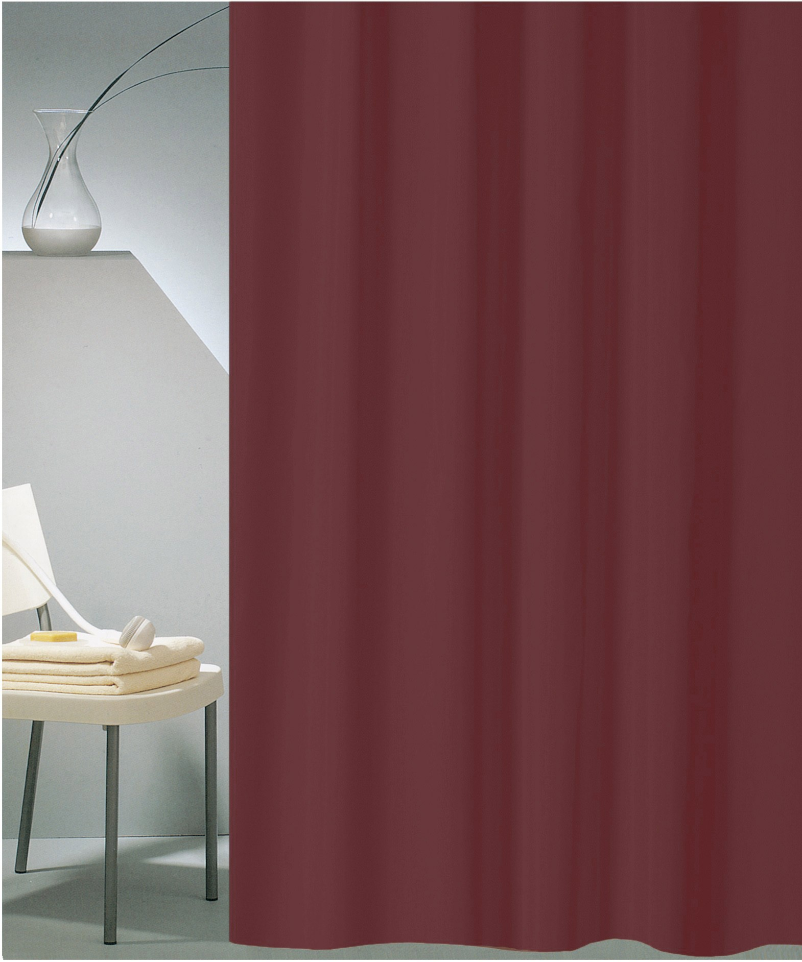 Κουρτίνα Μπάνιου (180x180) San Lorentzo Solid Brown