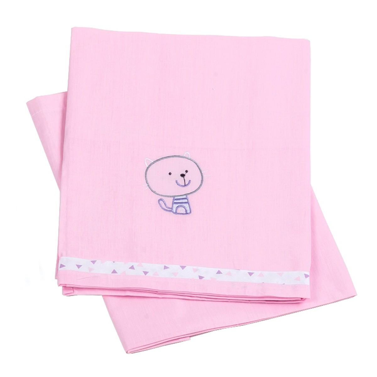 Σεντόνια Λίκνου (Σετ) Κόσμος Του Μωρού Home 0230 Ροζ