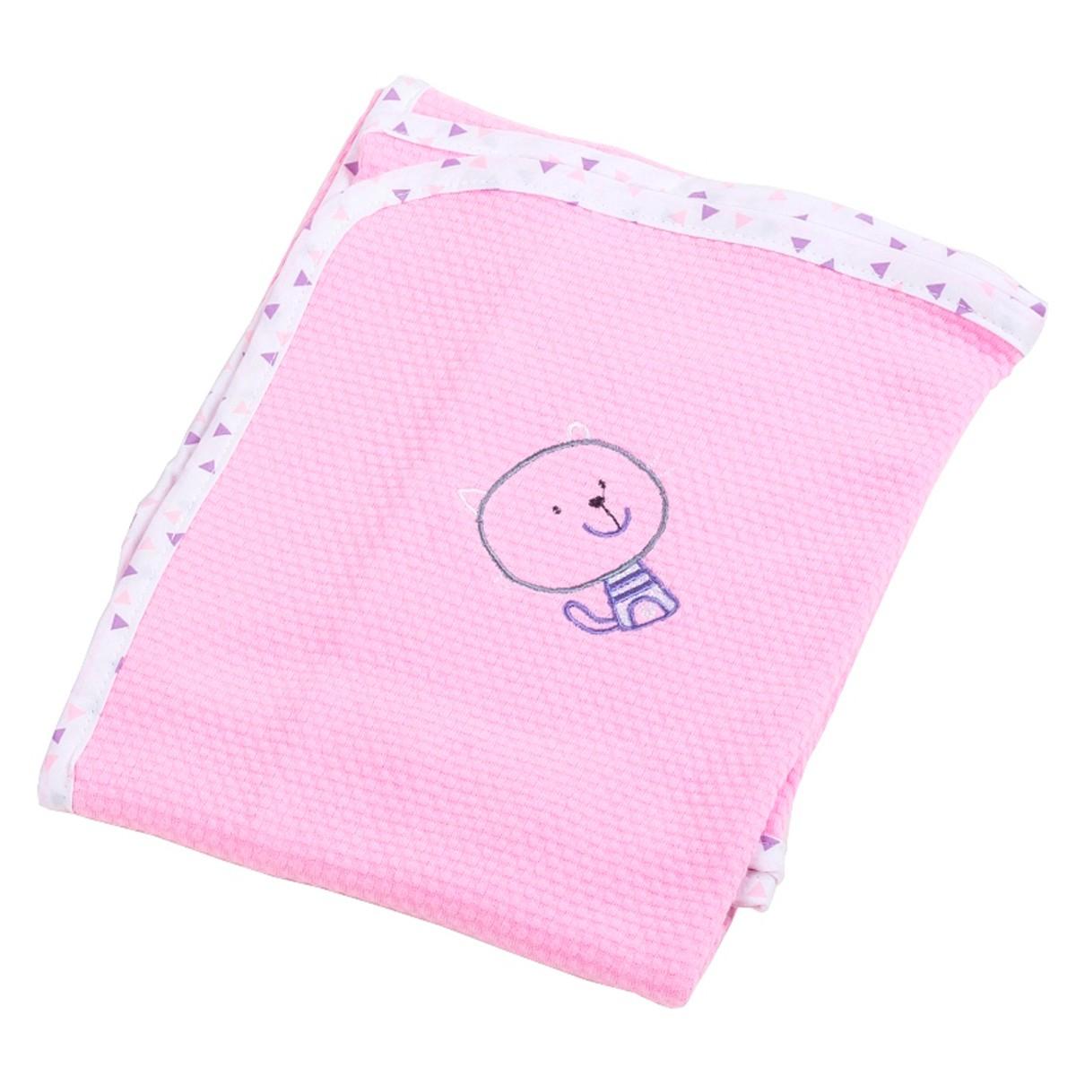 Κουβέρτα Πικέ Αγκαλιάς Κόσμος Του Μωρού Home 0315 Ροζ