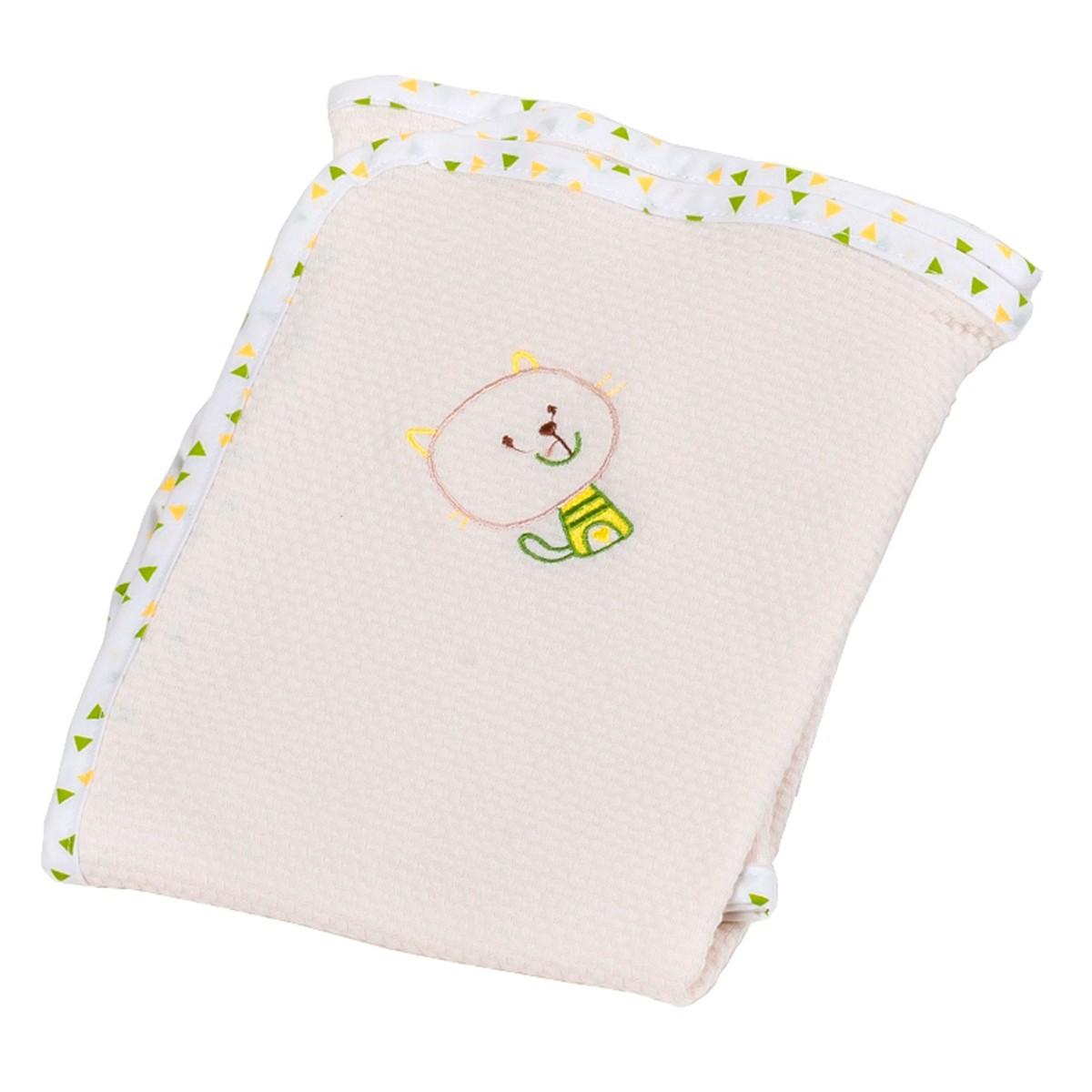 Κουβέρτα Πικέ Αγκαλιάς Κόσμος Του Μωρού Home 0315 Εκρού 74486
