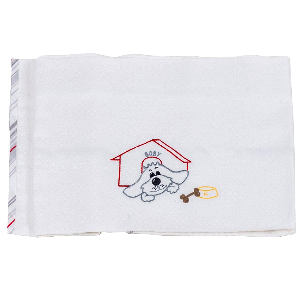 Κουβέρτα Πικέ Αγκαλιάς Κόσμος Του Μωρού Boby 0302 Γκρι