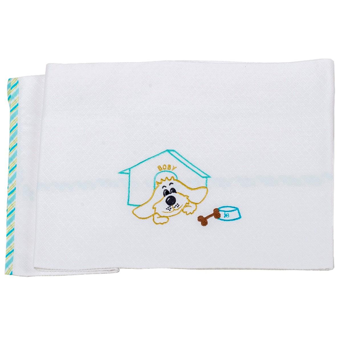 Κουβέρτα Πικέ Αγκαλιάς Κόσμος Του Μωρού Boby 0302 Τυρκουάζ