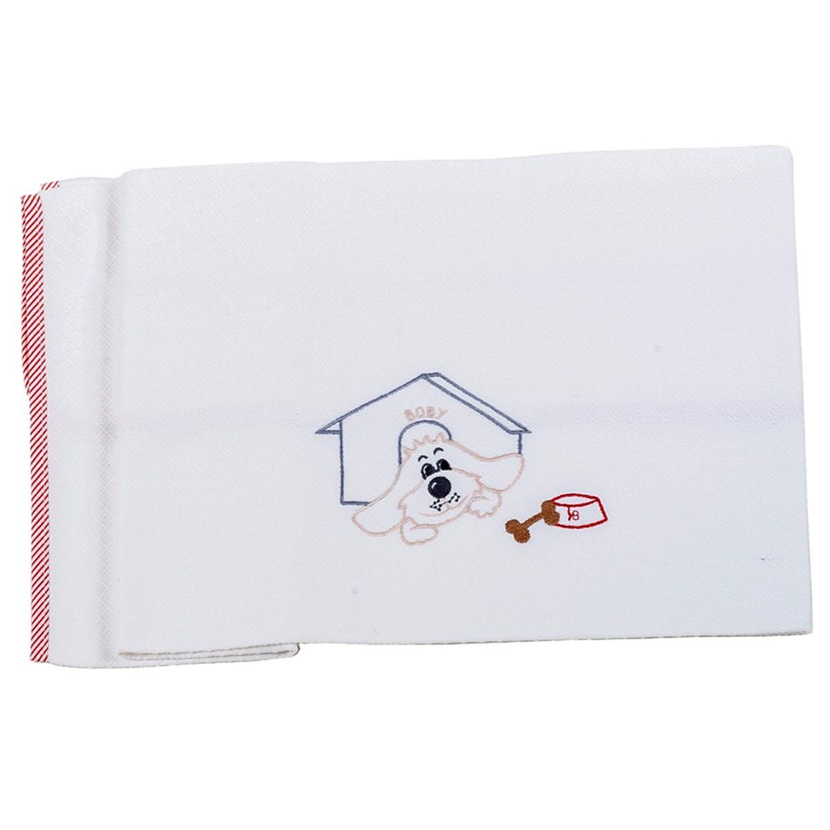 Κουβέρτα Πικέ Αγκαλιάς Κόσμος Του Μωρού 0302 Boby Κόκκινο