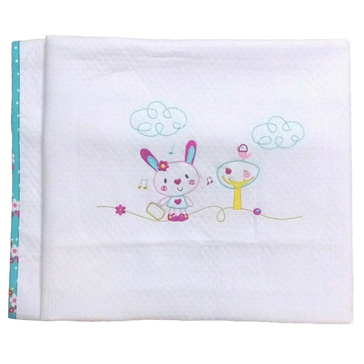 Κουβέρτα Ματλασέ Κούνιας Κόσμος Του Μωρού Rabbit 0351 74501