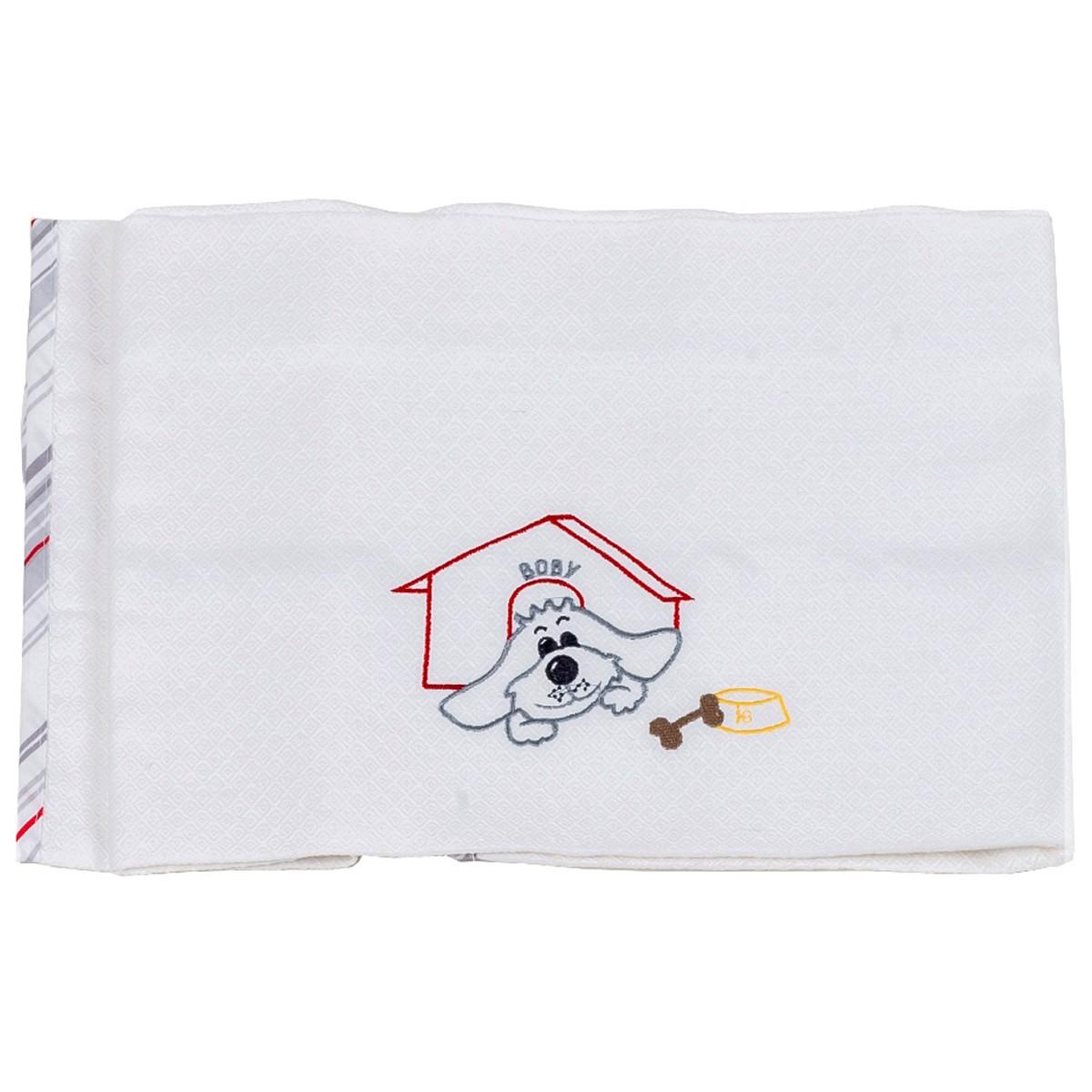 Κουβέρτα Πικέ Κούνιας Κόσμος Του Μωρού 0303 Boby Γκρι