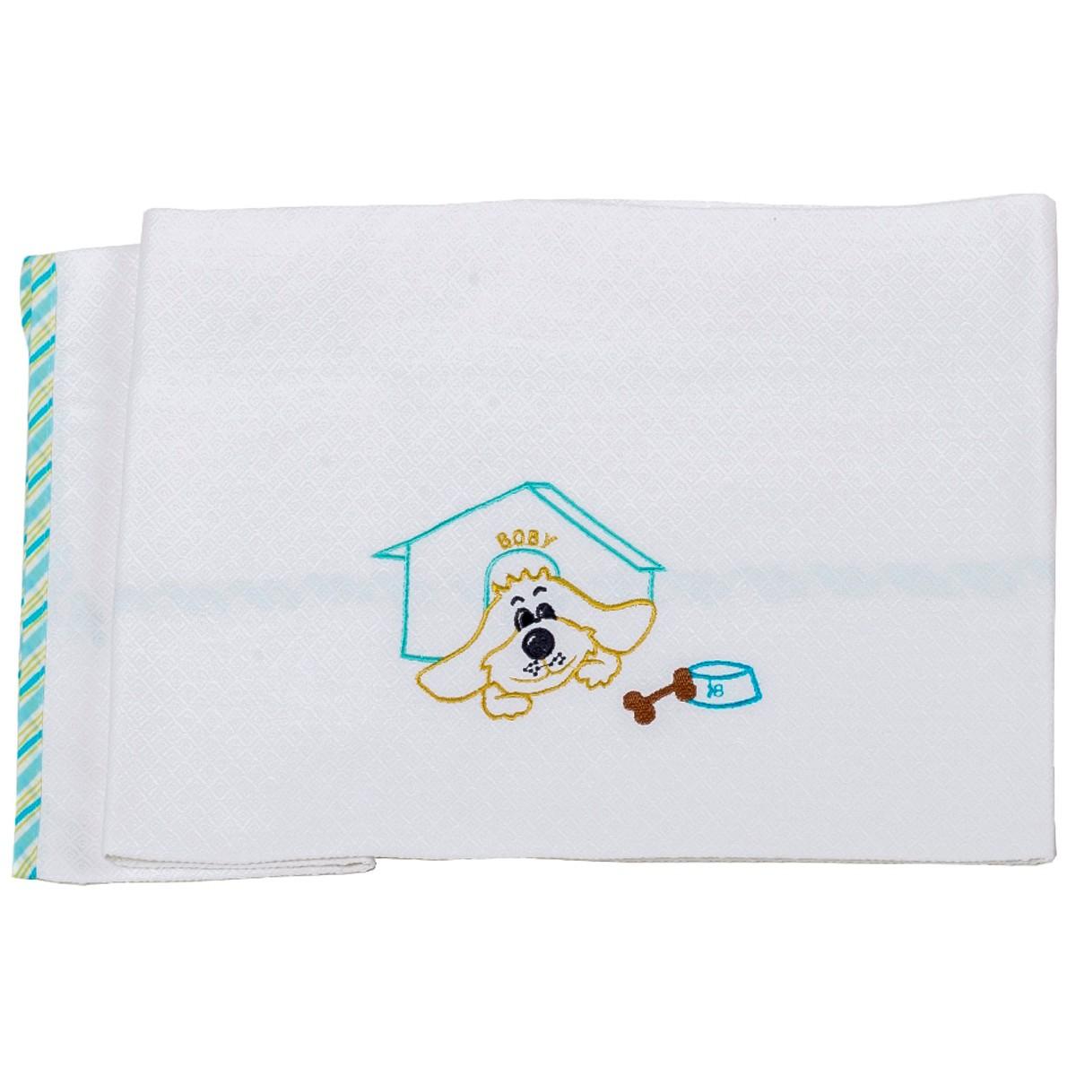 Κουβέρτα Πικέ Κούνιας Κόσμος Του Μωρού Boby 0303 Τυρκουάζ