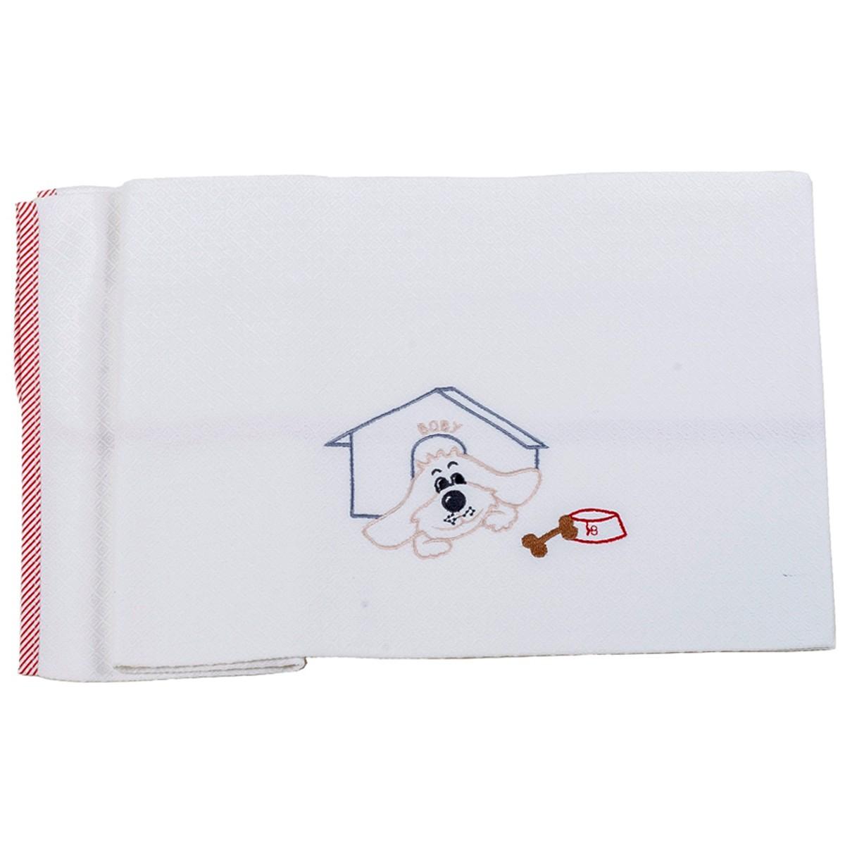 Κουβέρτα Πικέ Κούνιας Κόσμος Του Μωρού 0303 Boby Κόκκινο