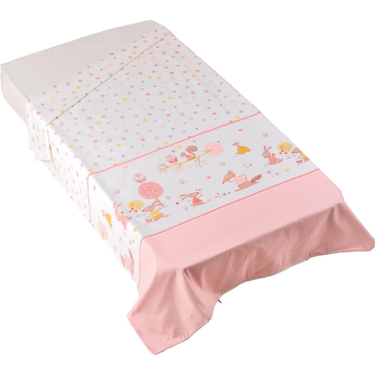 Παπλωματοθήκη Κούνιας Κόσμος Του Μωρού Countryside 0679 Ροζ