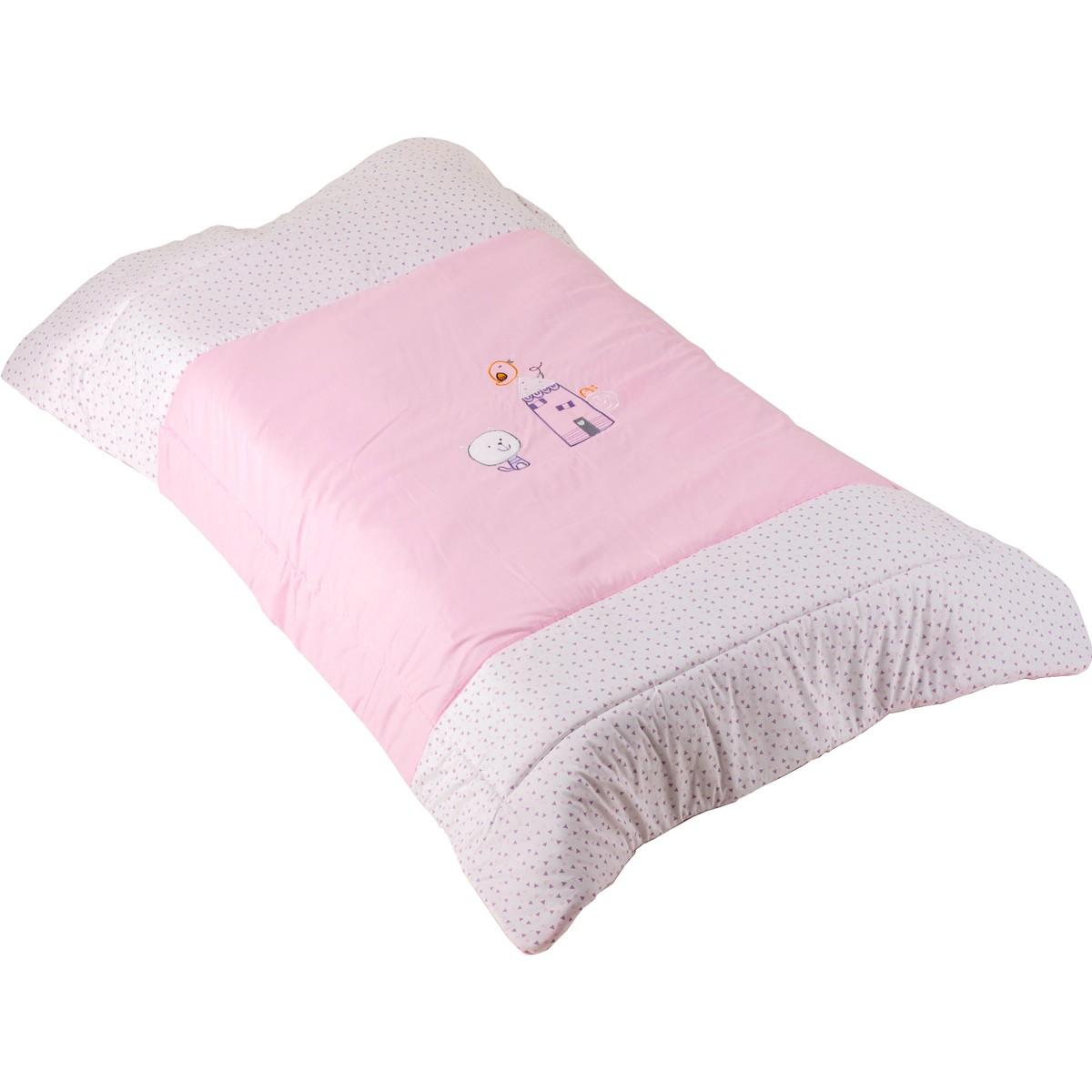 Πάπλωμα Κούνιας Κόσμος Του Μωρού Home 7950 Ροζ
