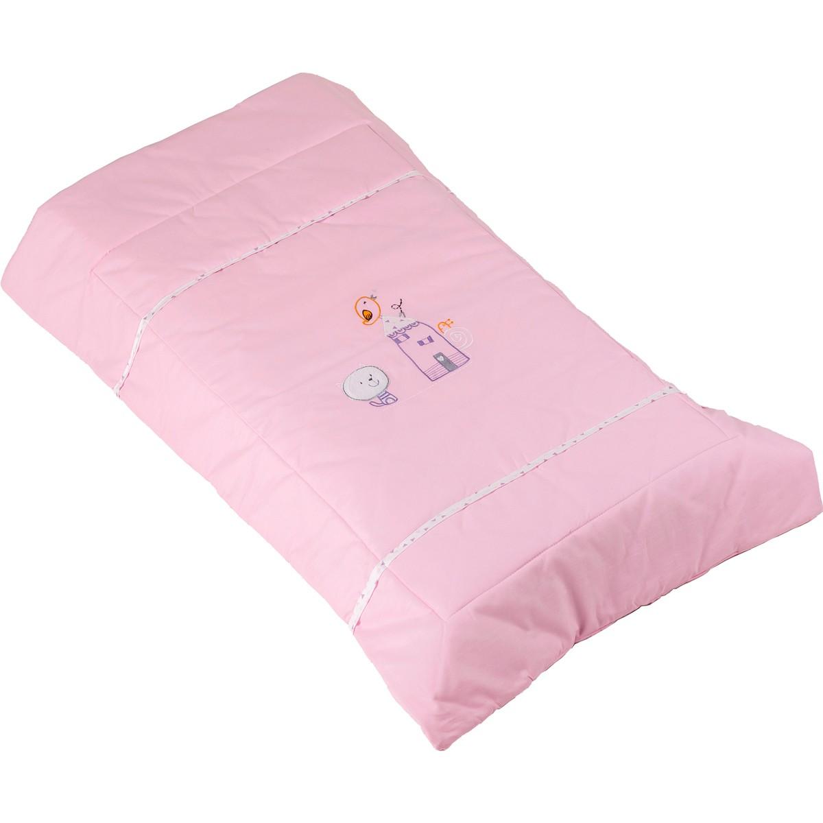 Πάπλωμα Λίκνου Κόσμος Του Μωρού Home 8950 Ροζ
