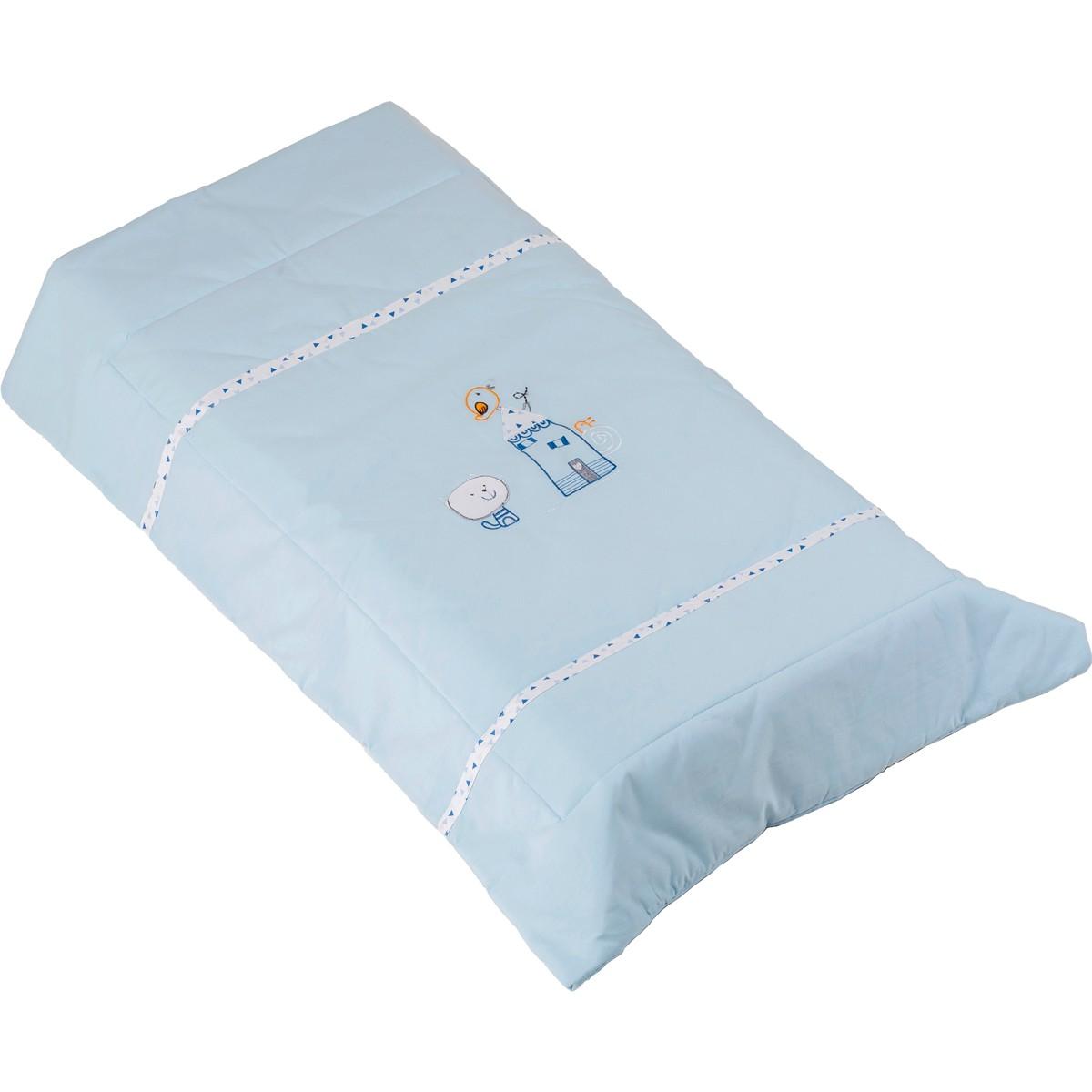 Πάπλωμα Λίκνου Κόσμος Του Μωρού Home 8950 Σιέλ