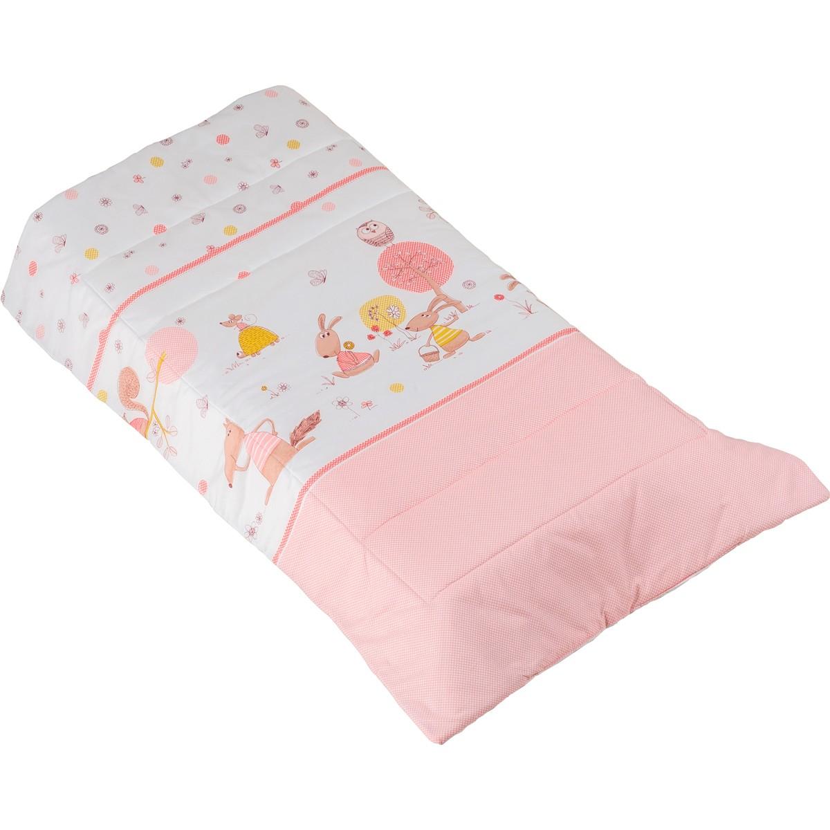 Πάπλωμα Λίκνου Κόσμος Του Μωρού Countryside 0885 Ροζ