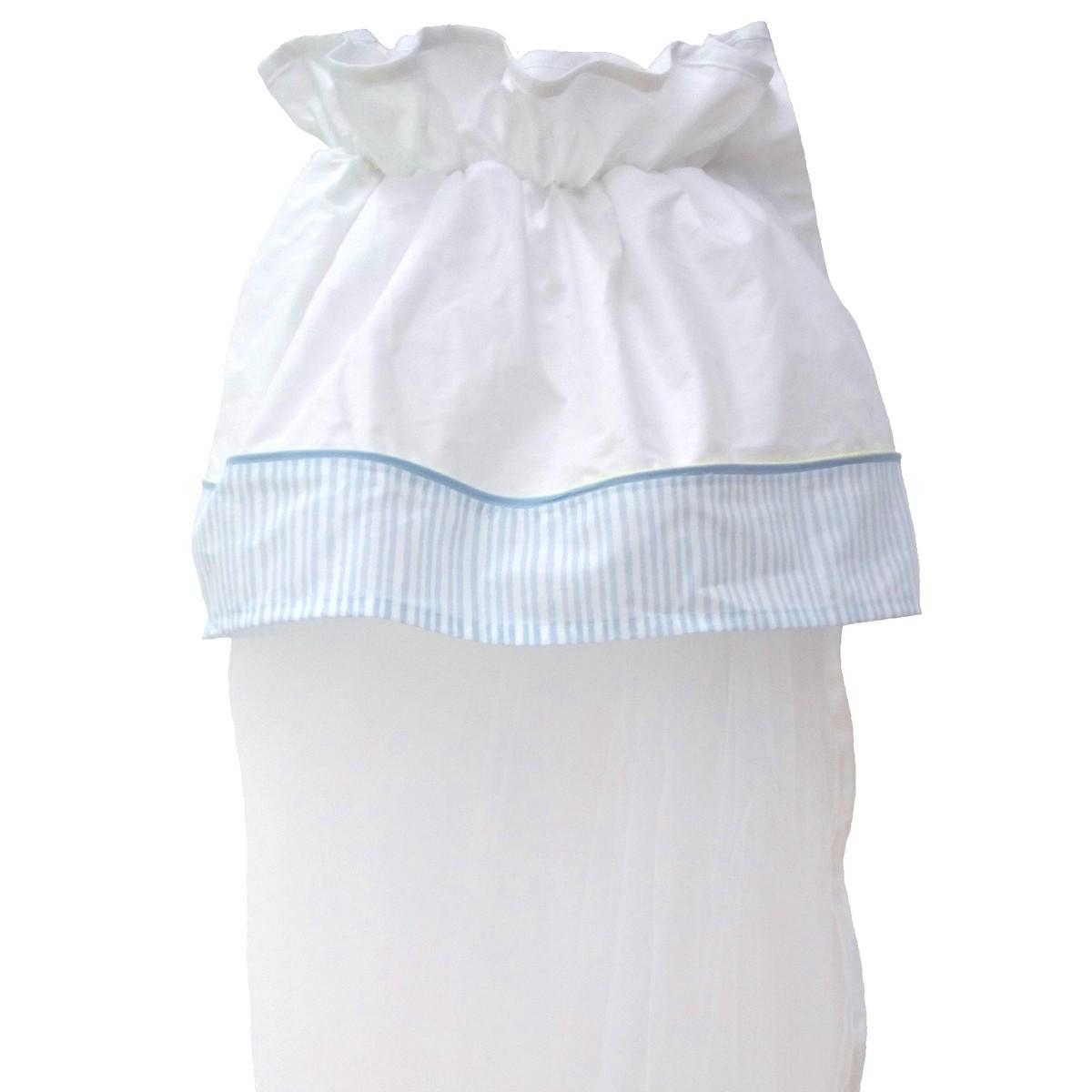 Κουνουπιέρα Κούνιας Κόσμος Του Μωρού 7924 Ριγέ Σιέλ