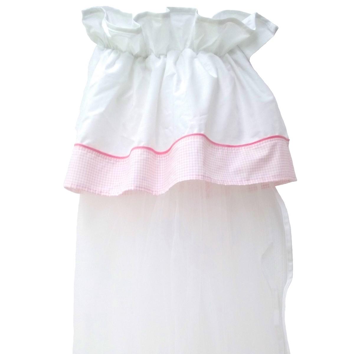 Κουνουπιέρα Κούνιας Κόσμος Του Μωρού Καρό Ροζ 7924