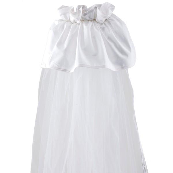 Κουνουπιέρα Κούνιας Κόσμος Του Μωρού 0772 Μονόχρωμη Λευκή