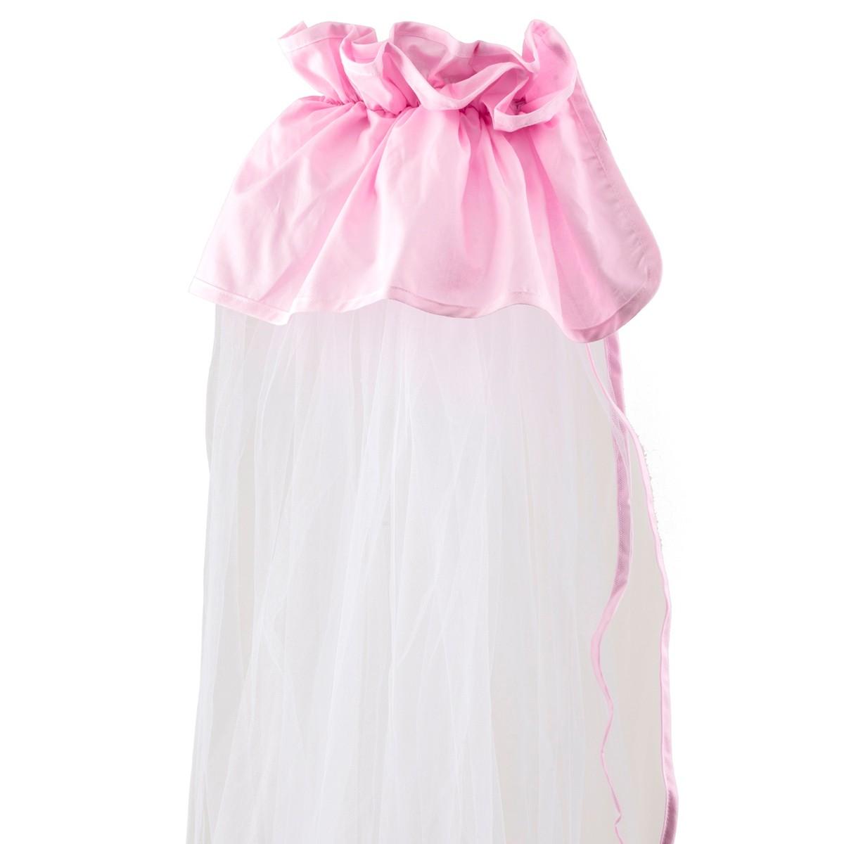 Κουνουπιέρα Κούνιας Κόσμος Του Μωρού 0772 Μονόχρωμη Ροζ home   βρεφικά   κουνουπιέρες