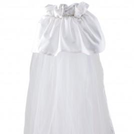 Κουνουπιέρα Λίκνου Κόσμος Του Μωρού 0872 Μονόχρωμη Λευκό