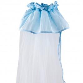 Κουνουπιέρα Λίκνου Κόσμος Του Μωρού 0872 Μονόχρωμη Σιέλ