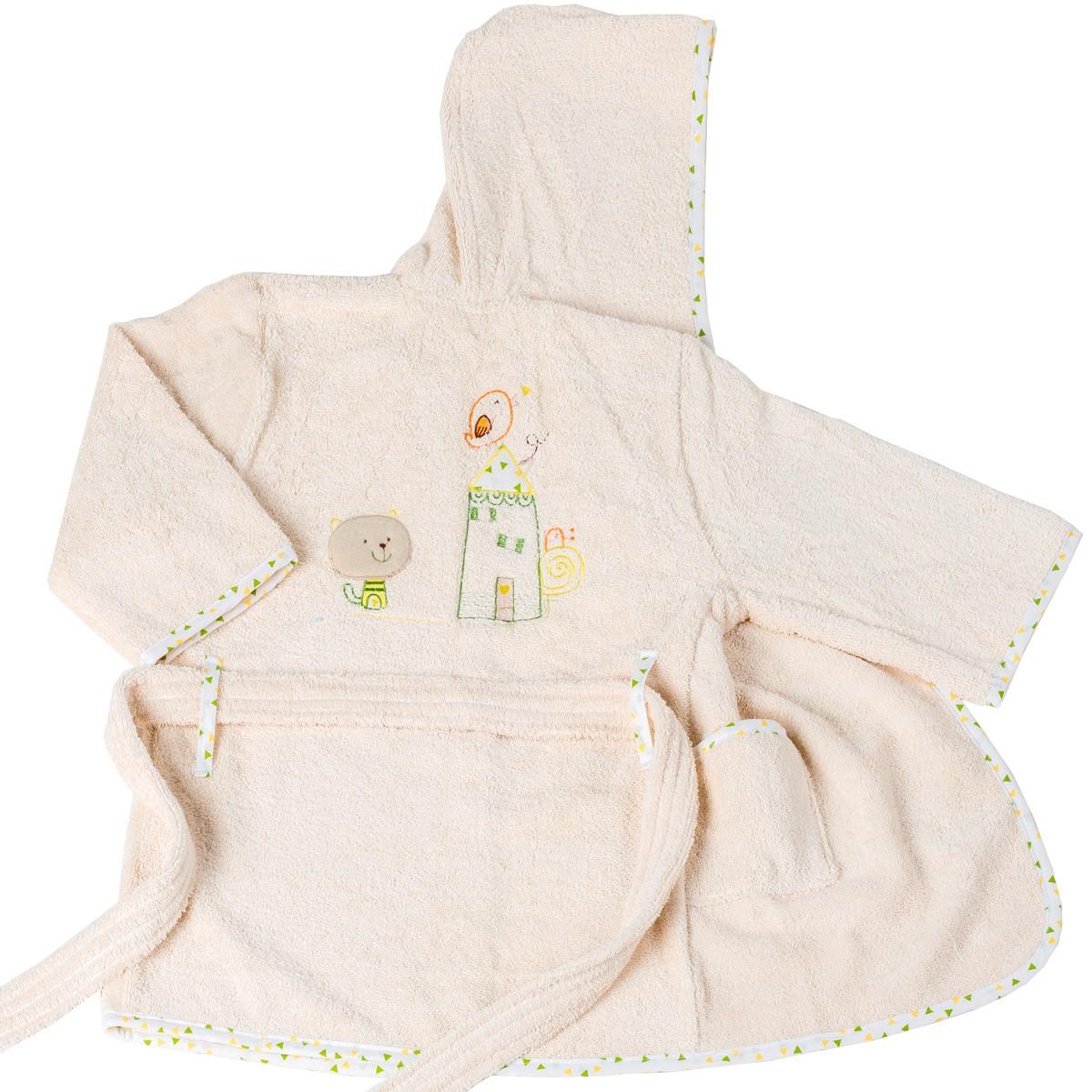 Βρεφικό Μπουρνούζι Κόσμος Του Μωρού Home 4100 Εκρού Νο4 Νο4