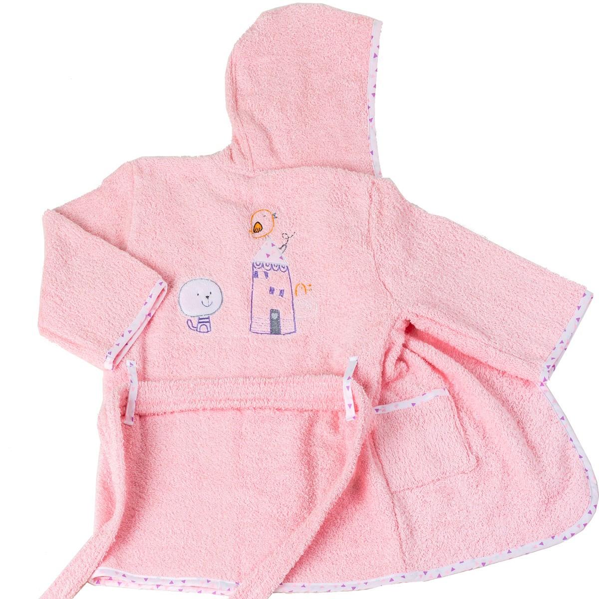 Παιδικό Μπουρνούζι Κόσμος Του Μωρού Home 4100 Ροζ Νο6 Νο6