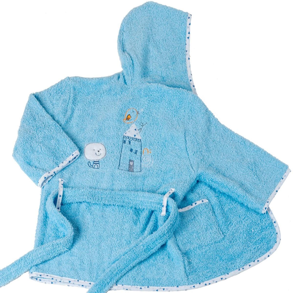 Βρεφικό Μπουρνούζι Κόσμος Του Μωρού Home 4100 Σιέλ Νο2 Νο2 74601