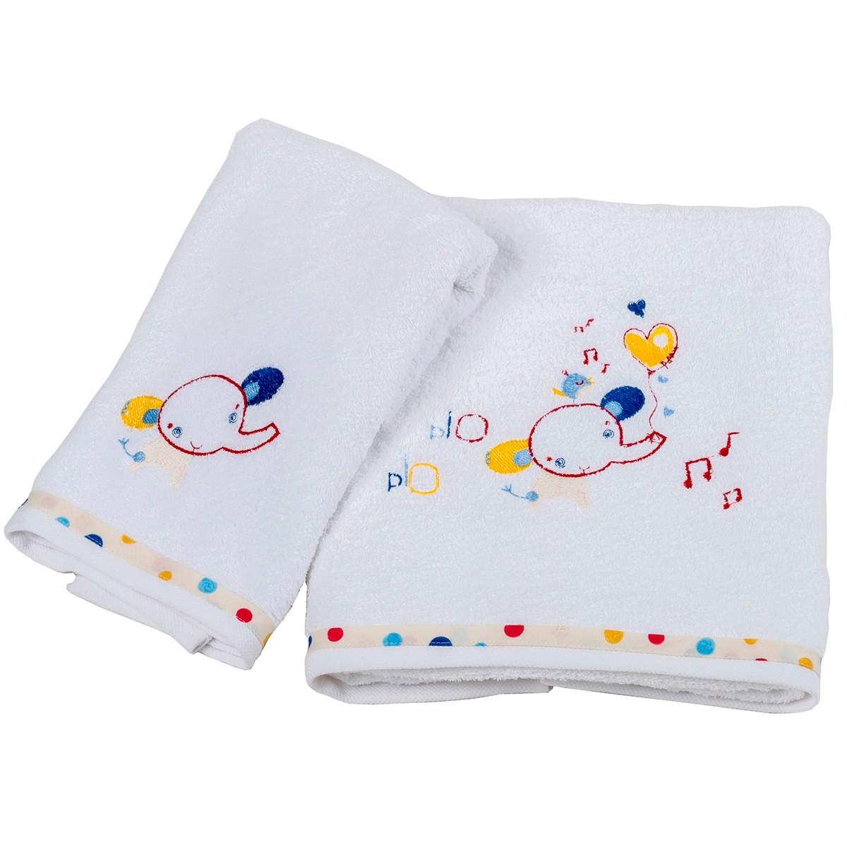 Βρεφικές Πετσέτες (Σετ 2τμχ) Κόσμος Του Μωρού Elephant 0570