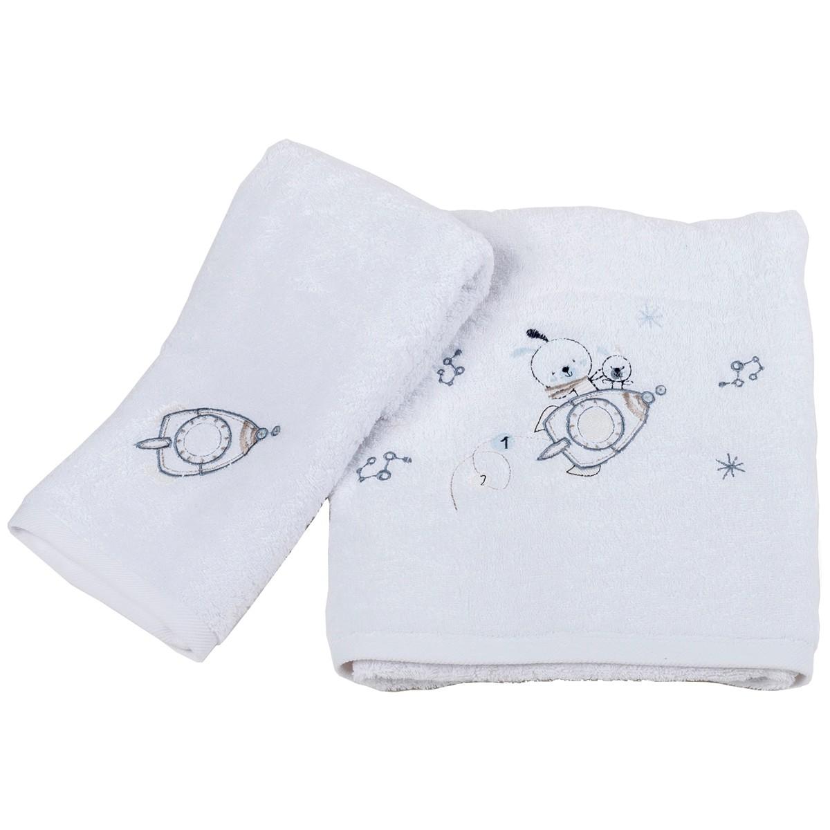 Βρεφικές Πετσέτες (Σετ 2τμχ) Κόσμος Του Μωρού Rabbit 0550