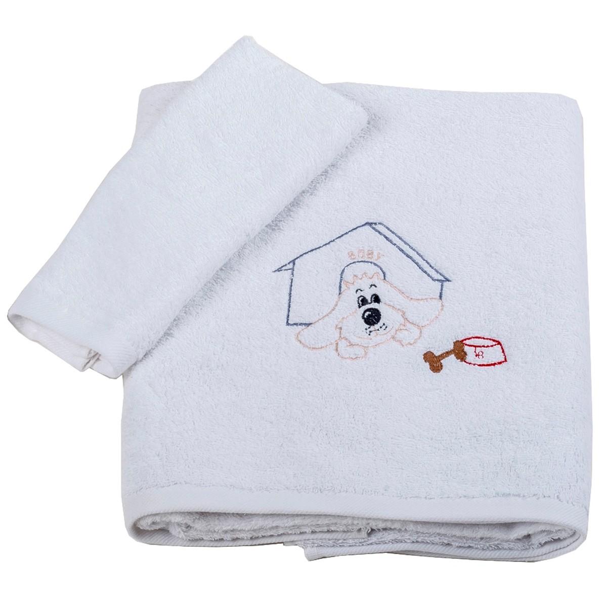 Βρεφικές Πετσέτες (Σετ 2τμχ) Κόσμος Του Μωρού Boby 0502 Γκρι