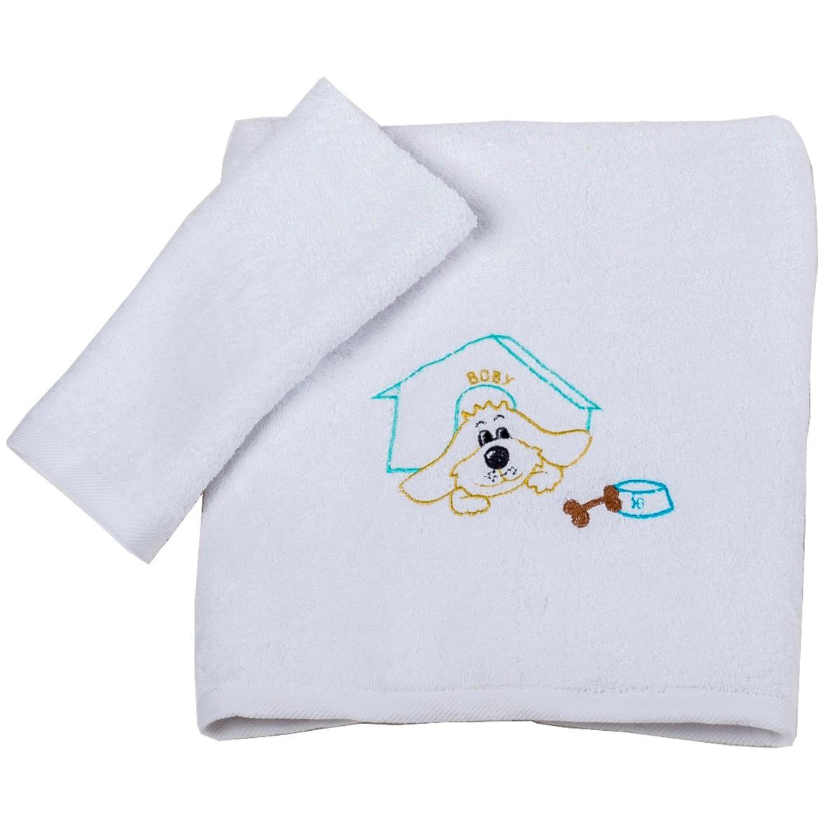 Βρεφικές Πετσέτες (Σετ 2τμχ) Κόσμος Του Μωρού Boby 0502 Τυρκουάζ 74637