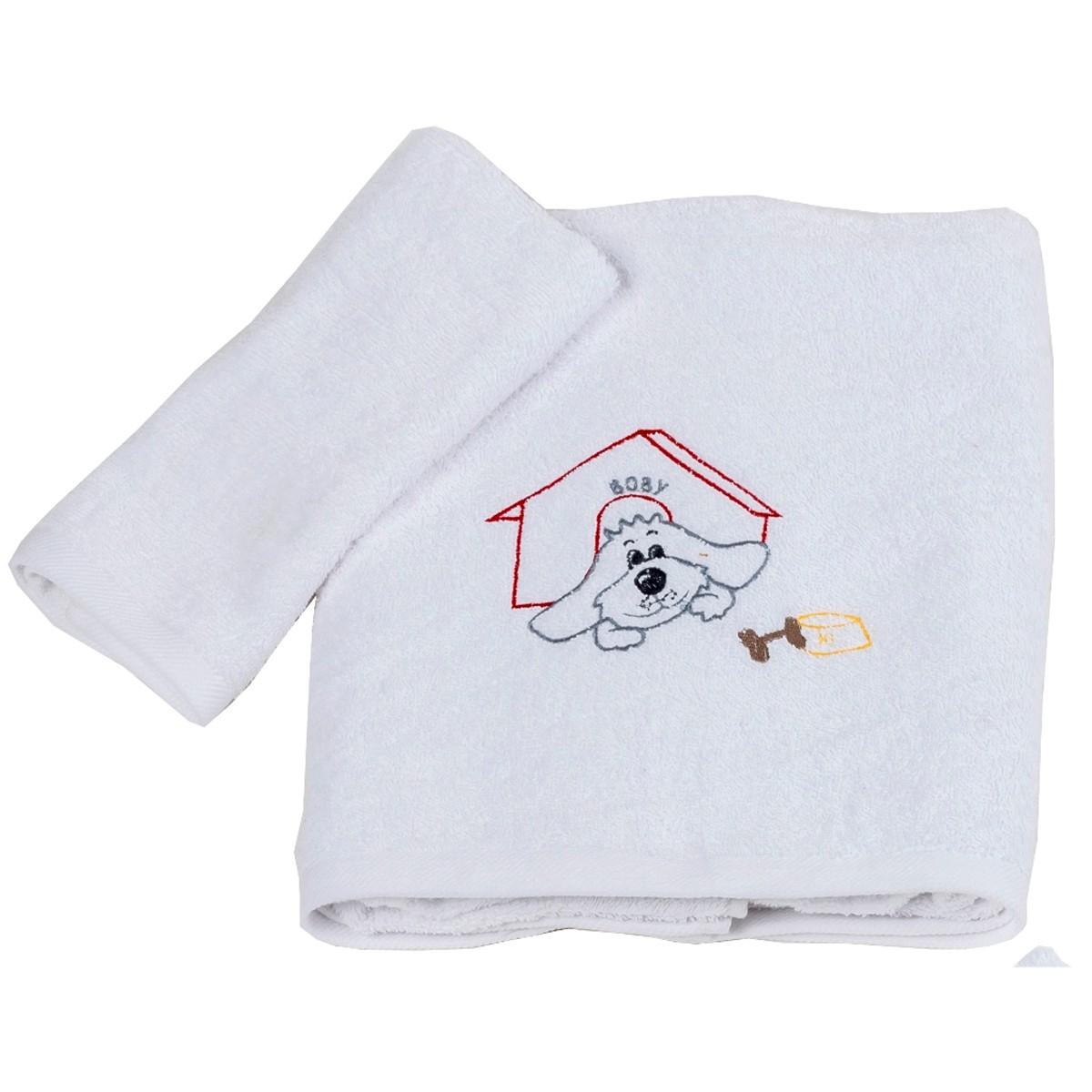 Βρεφικές Πετσέτες (Σετ 2τμχ) Κόσμος Του Μωρού Boby 0502 Κόκκινο